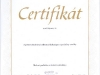 certifikát MORA